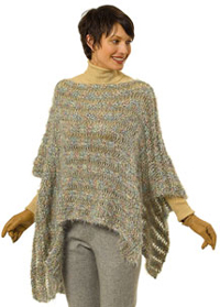 Knitting Pattern For Cape With Sleeves : PONCHOS KNITTED PATTERNS Easy Knit Patterns