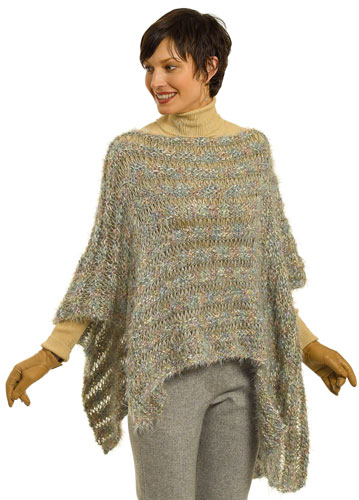 Free Crochet Pattern Ladies Poncho : Berroco? Free Pattern My First Asymmetrical Poncho