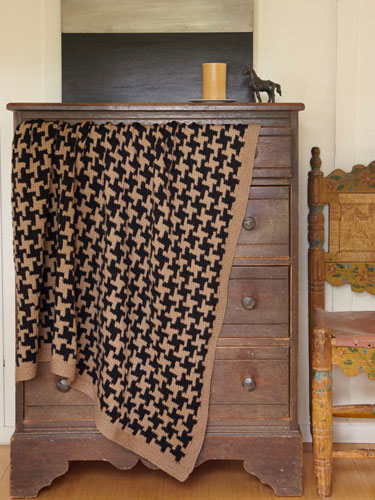 Comfort knitting and crochet afghans houndstooth rollover to enlarge dt1010fo