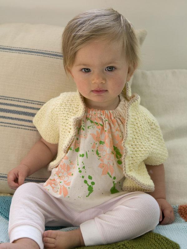 Free Bolero Knitting Pattern For Child : Comfort  Knitting & Crochet: Babies & Toddlers Abigail Bolero
