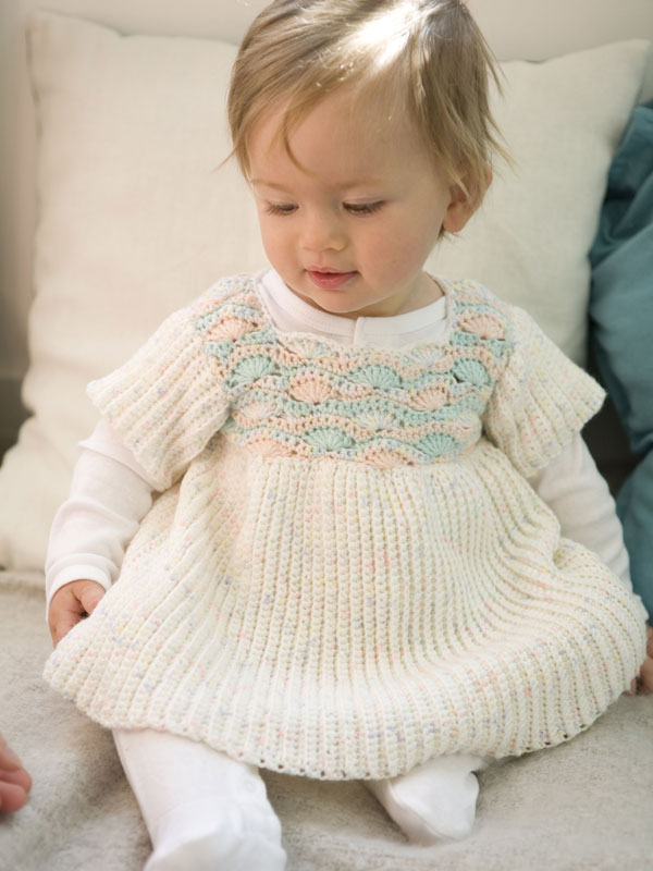 Comfort Knitting Crochet Babies Toddlers Sunday Best Dress