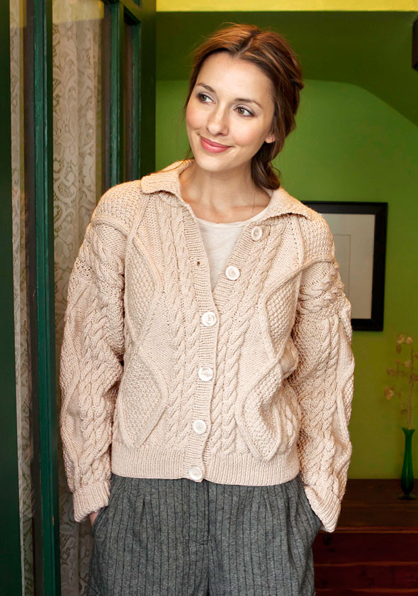 Aran Cardigan Knitting Patterns Free : Berroco  Free Pattern Alexi