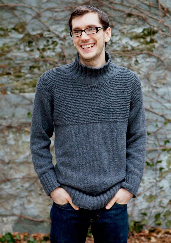 Как вязать мужской свитер