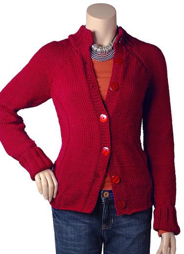 Knitting Pattern For Fitted Jacket : Berroco  Free Pattern Pasadena