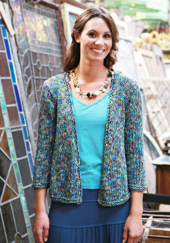 Knitting Patterns Ladies Summer Cardigans : Berroco  Free Pattern Samos