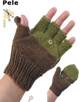 Pele, convertible mittens, knit in Pure&reg;Merino