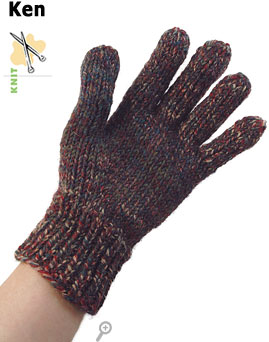 Ken, man's glove, knit in Keltic&reg;