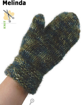 Melinda mittens knit in Berroco Memoirs&reg;