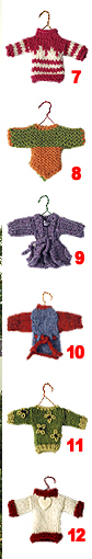 12 Sweater Ornaments