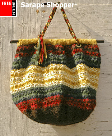 Free Pattern, Sarape Shopper
