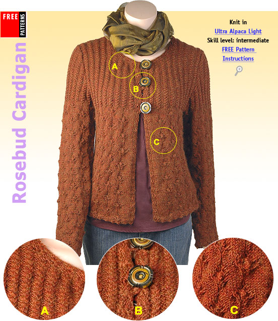 Free Pattern - Rosebud Cardigan