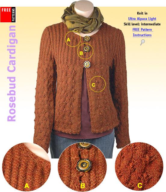 Free Pattern - Rosebud Cardigan