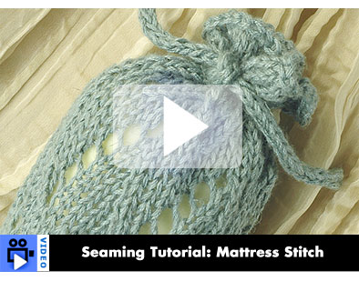 Video - Seaming Tutorial: Mattress Stitch