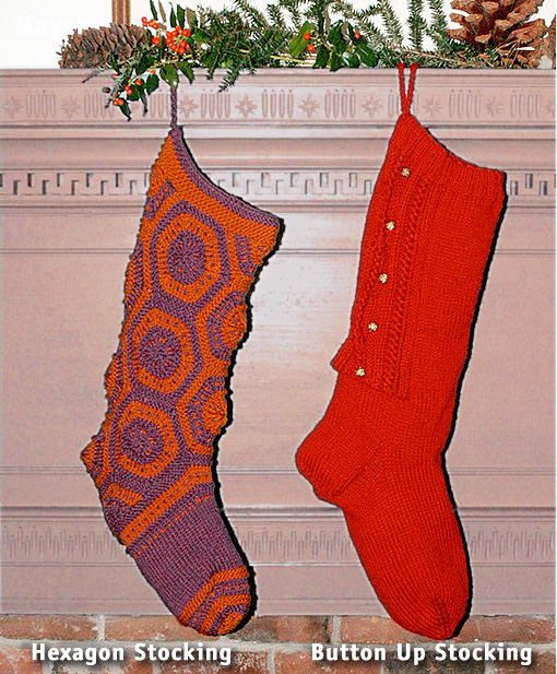 Hexagon Stocking and Button Up Stocking