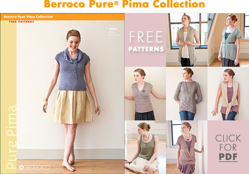 Berroco Pure® Pima Collection - Free Patterns
