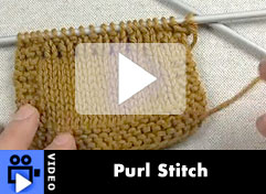 How-To Video: Purl Stitch