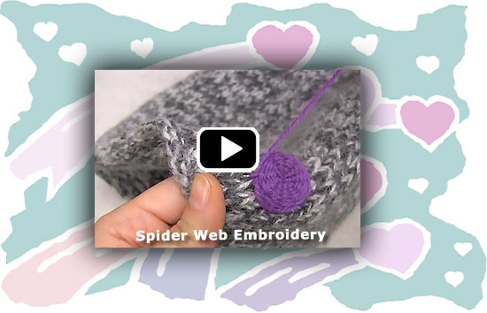 How-to Video - Spider Web Embroidery
