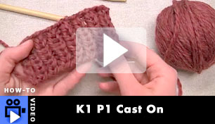 K1 P1 Cast On - How to Video