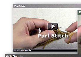 Video - Purl Stitch