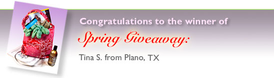 A Winner - Spring Giveaway
