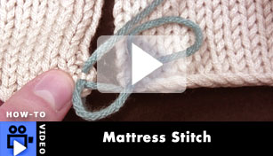 Mattress Stitch - Video