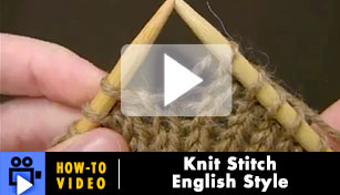 Knit Stitch: English Style - Video