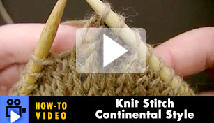 Knit Stitch: Continental Style - Video