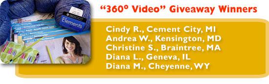 """360 Video"" Giveaway Winners"