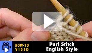 Purl Stitch: English Style - Video