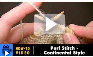 Knit Purl Stitch Continental Method : Berroco  Fashion Yarns for Knitting and Crochet